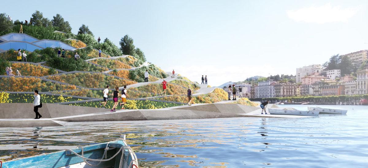 Pomysł na miasto zielono-niebieskie, połączone ze swoim jeziorem